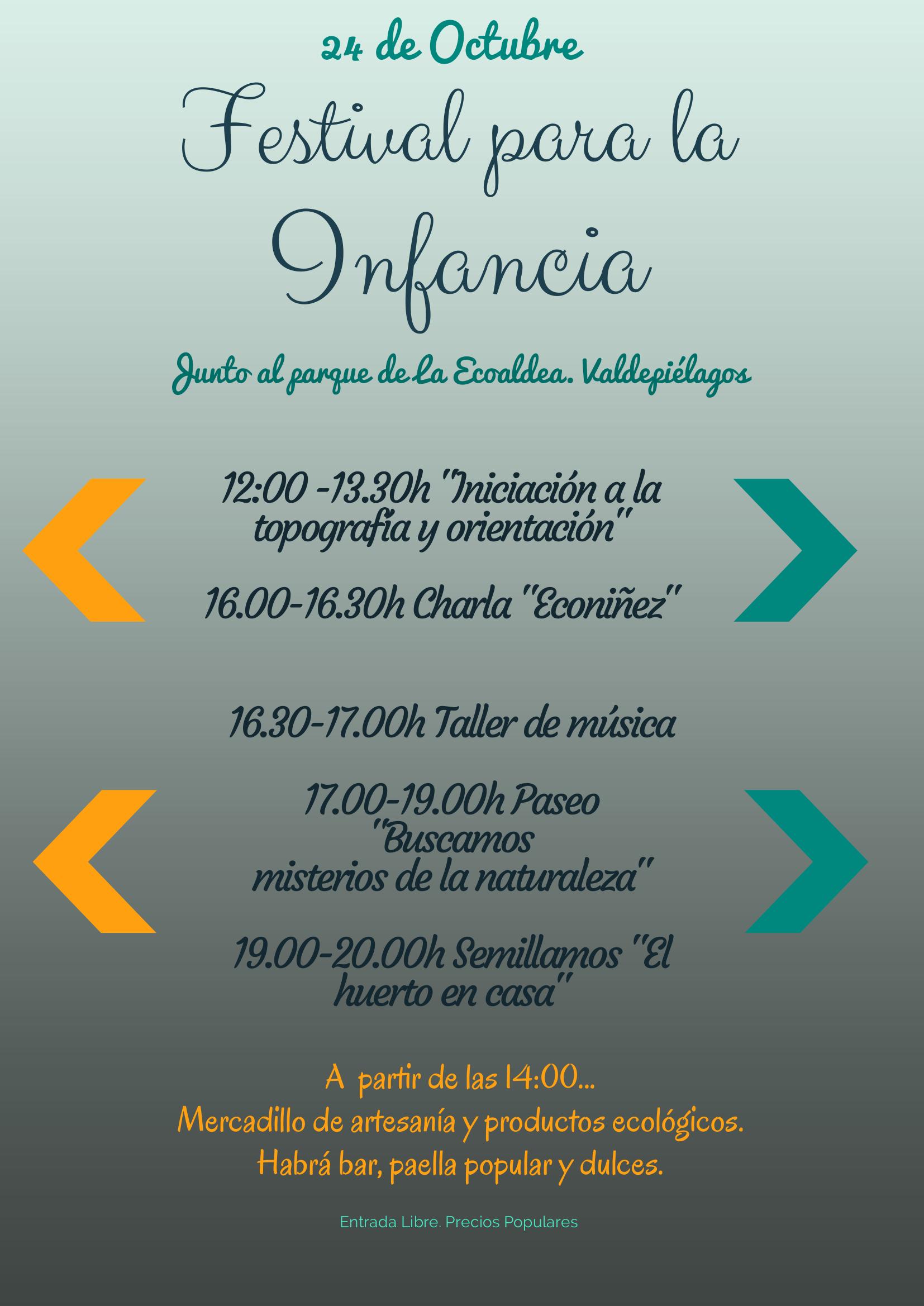 Festival para la Infancia. 24 Octubre. Ecoaldea Valdepielagos